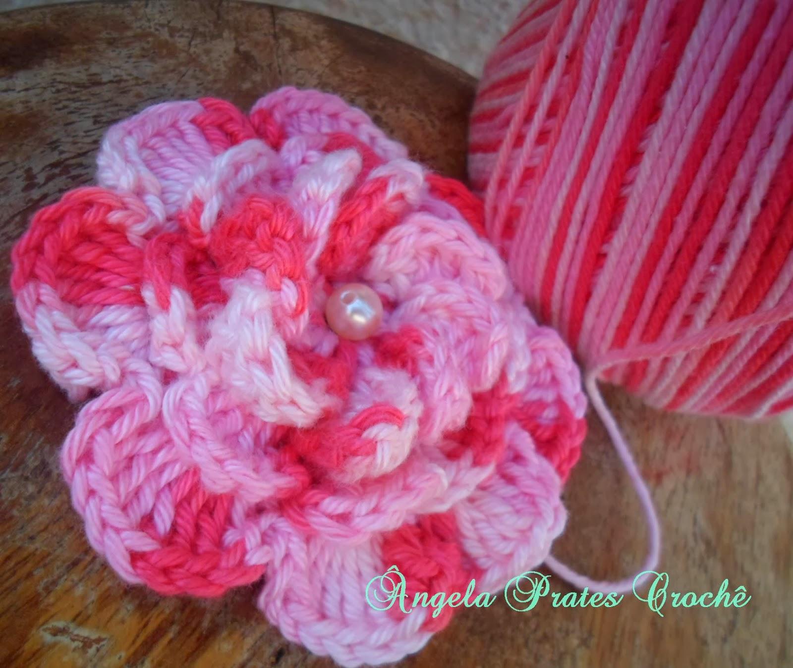 Ângela Prates Croche: Flor para aplicação em croche #B11A3D 1600 1349