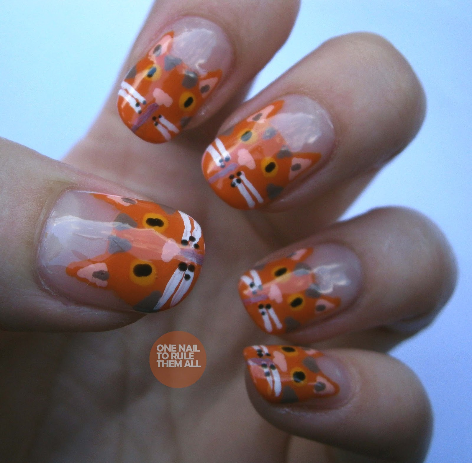 One Nail To Rule Them All: Day 2: Orange (ginger) nails