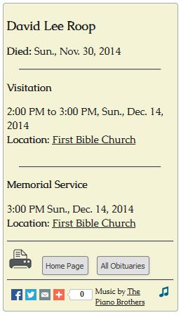 Service/ Visitation