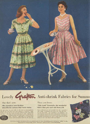 anti-shrink fabric ad from 1957