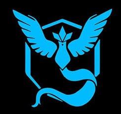 Pokemon Go blue sticker