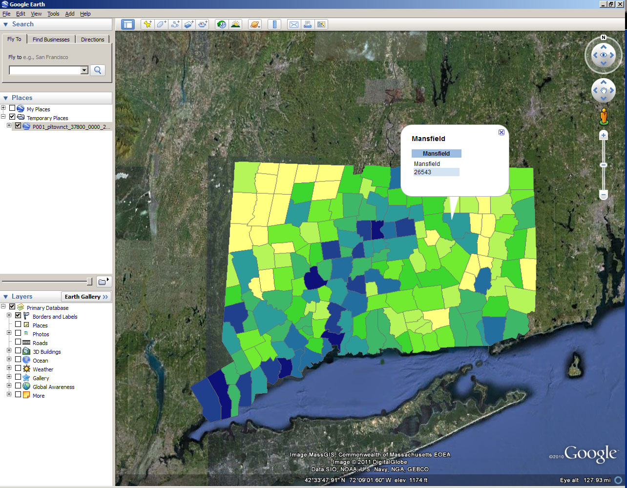 Creating KMZs In ArcMap Outside The Neatline - Us counties kml