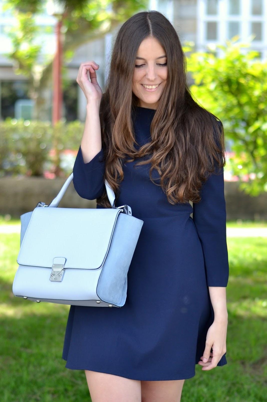 zara baby blue bag ss15