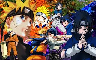 Wallpaper keren Naruto vs Sasuke terbaru
