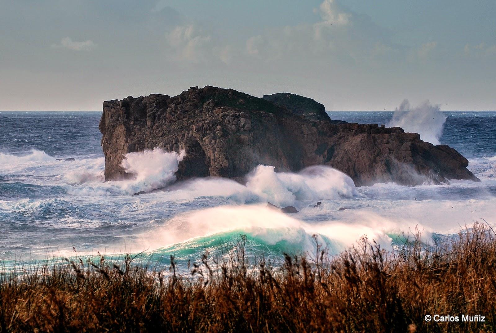 mar, temporal, Islas Gabeiras 2 (Doniños)