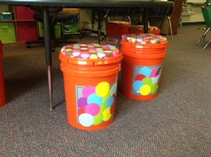 Classroom Organization Bucket Seats, The Schroeder Page, Photo