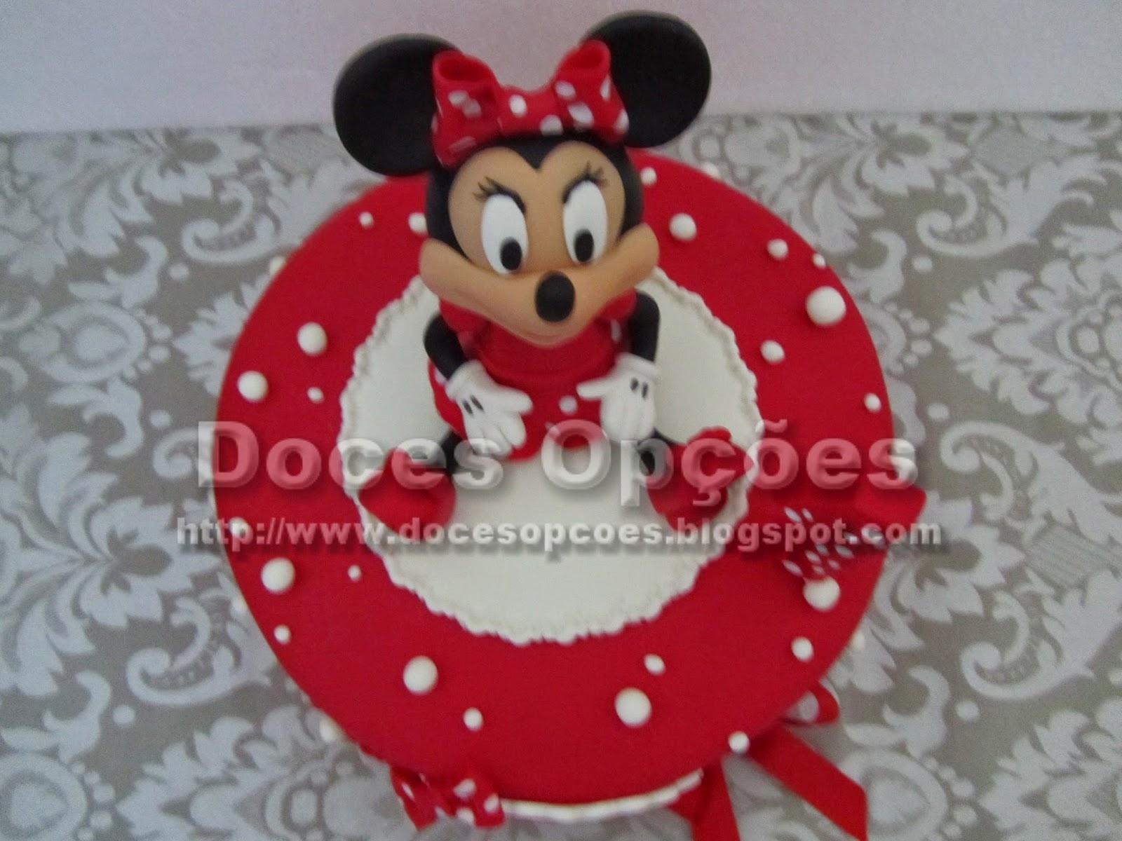 bolo aniversário minnie bragança