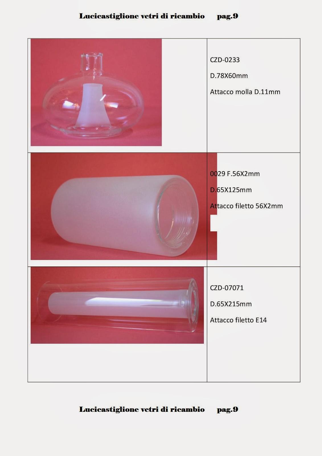 Ricambi per lampadari in vetro di Murano: Catalogo ricambi in ...