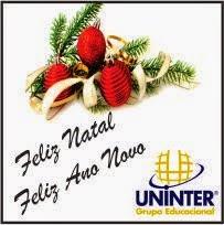 Uninter deseja a todos um Feliz Natal e um Próspero Ano Novo