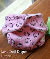 Luxe Doll Diaper Tutorial