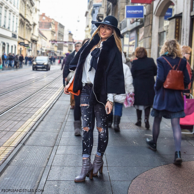 distressed jeans winter. Style idea how to wear your distressed jeans in winter months, špica zagreb, zg