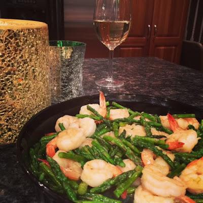 Shrimp & Asparagus Aglio Olio, Brenda Ajay HappyHealthySmart.blogspot.com