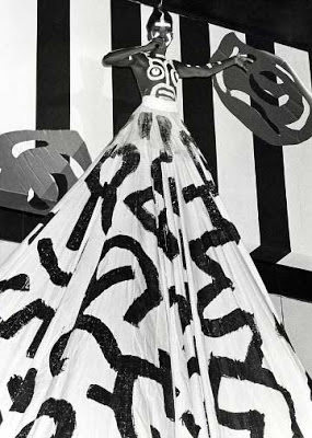 Grace Jones with Keith Haring design gown