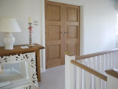 Oak finish door set