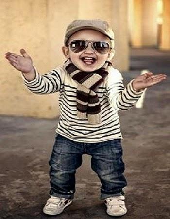 Bébé garçon mignon style