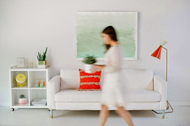 Wasserfarbe auf Leinwand: Tolles Wandbild selber machen