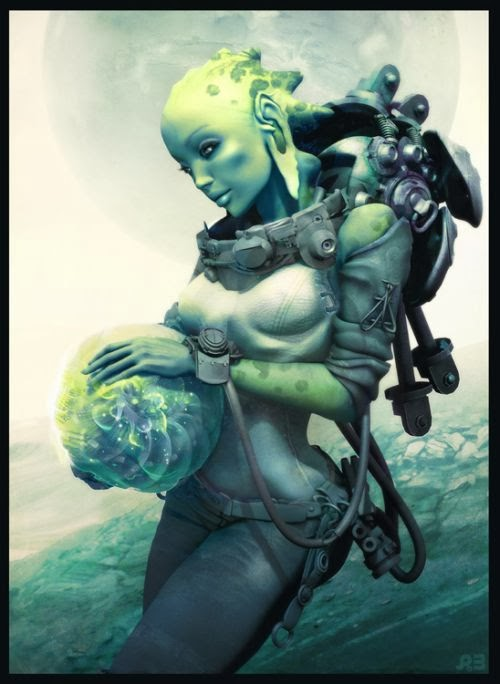 Pascal Blanche deviantart illustrations 3d models fantasy science fiction