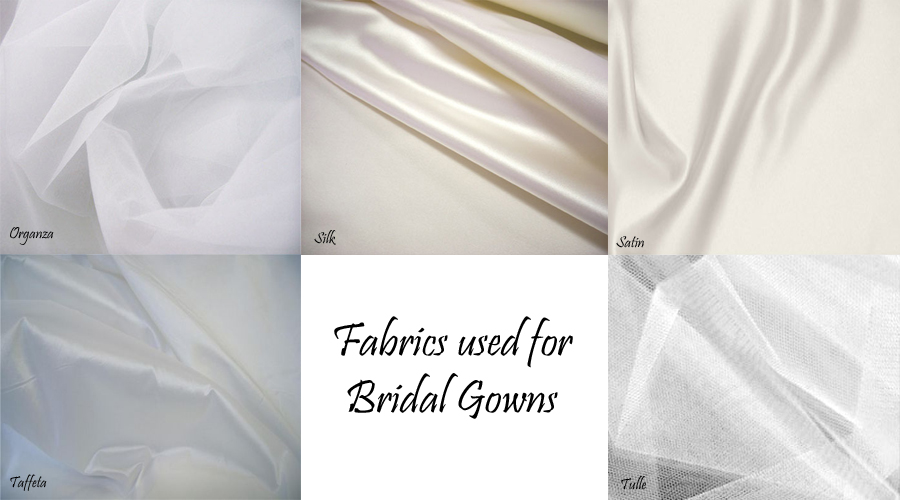 Types of wedding dresses fabric bridesmaid dresses for Wedding dress fabric stores