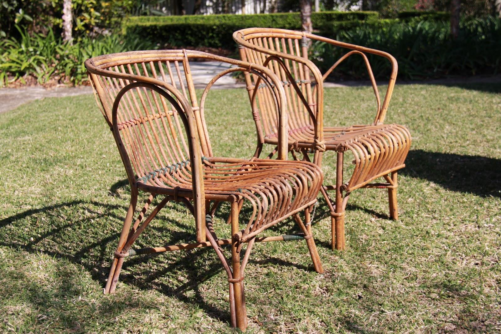 vintage finds vintage verandah seagrass or split cane furniture
