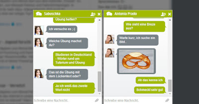 "Chat in Deutschlerner-Community ""Deutsch für Dich"" (Quelle: Bokowsky + Laymann)"