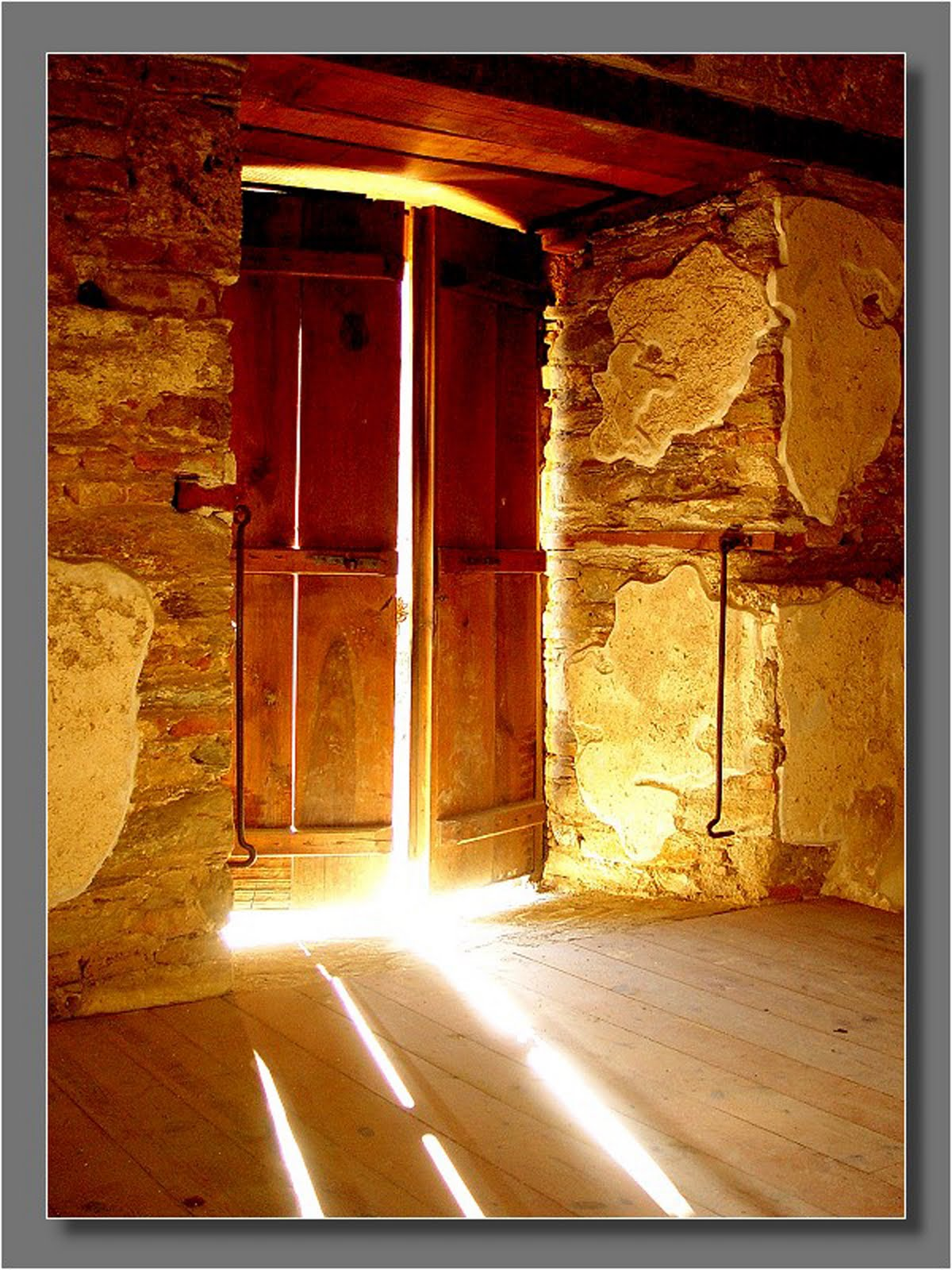 Awakened open doors when love came down for Door with light