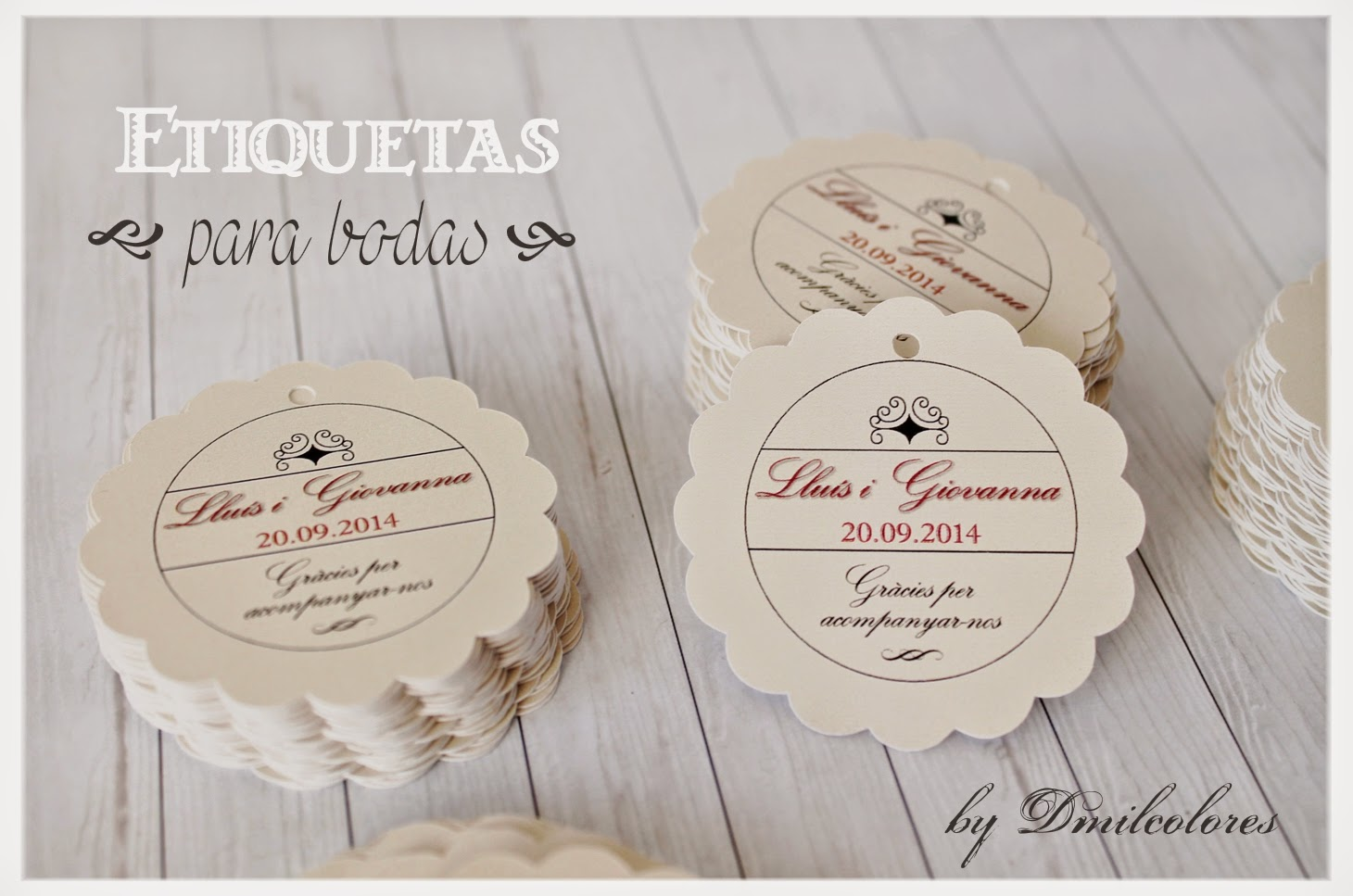 Etiquetas para boda dmilcolores detalles - Etiquetas para regalos para imprimir ...