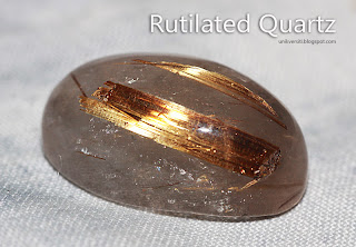 Batu permata Jarum Emas - rutilated quartz