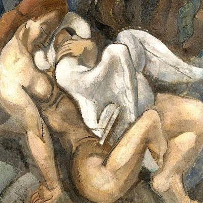 Cruz cubista con desnudo