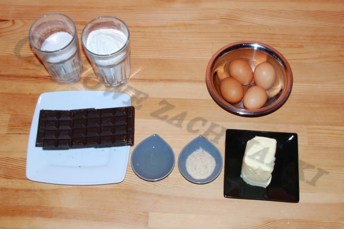 Składniki ciasta czekoladowego