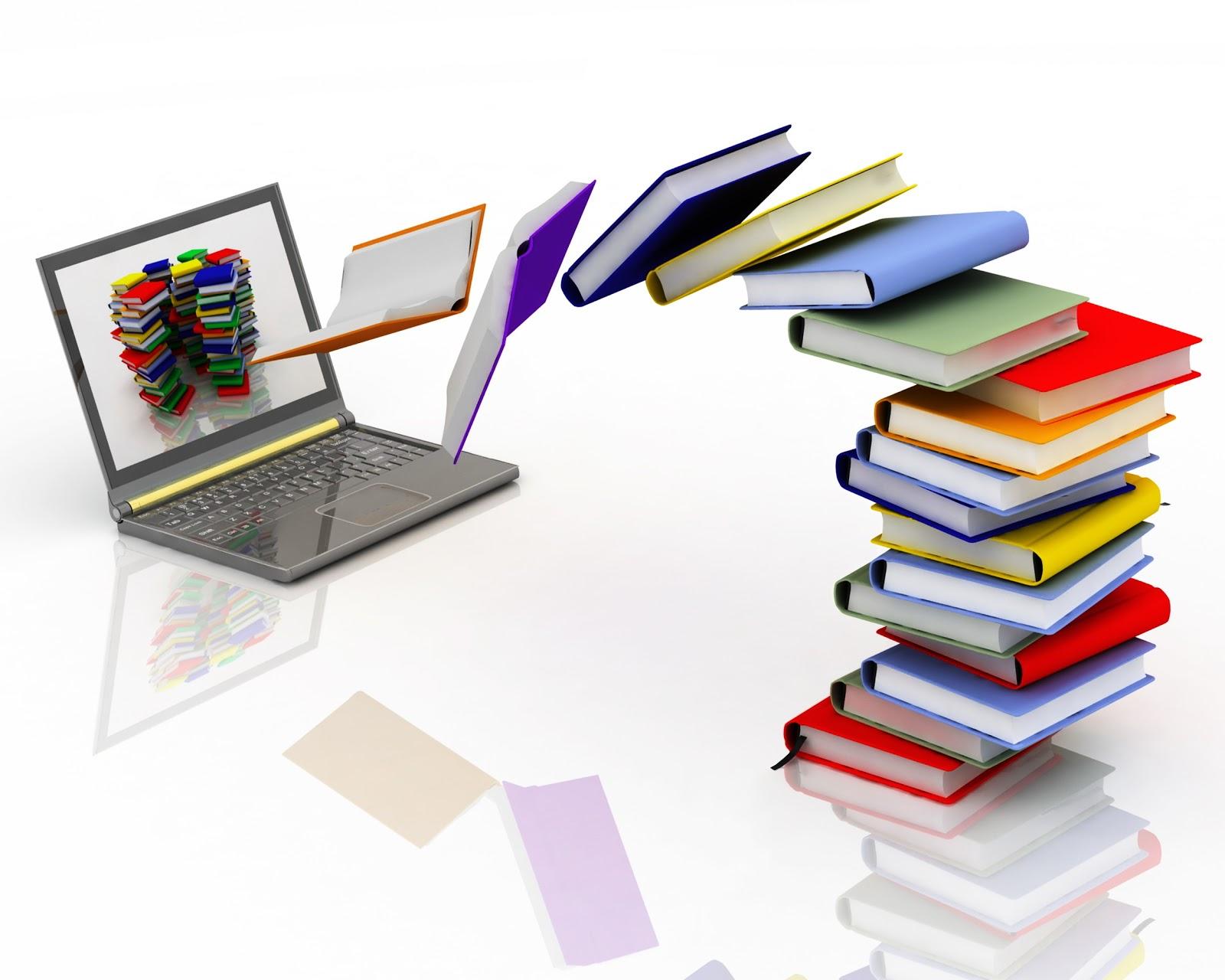 Resultado de imagem para imagem livros e computador