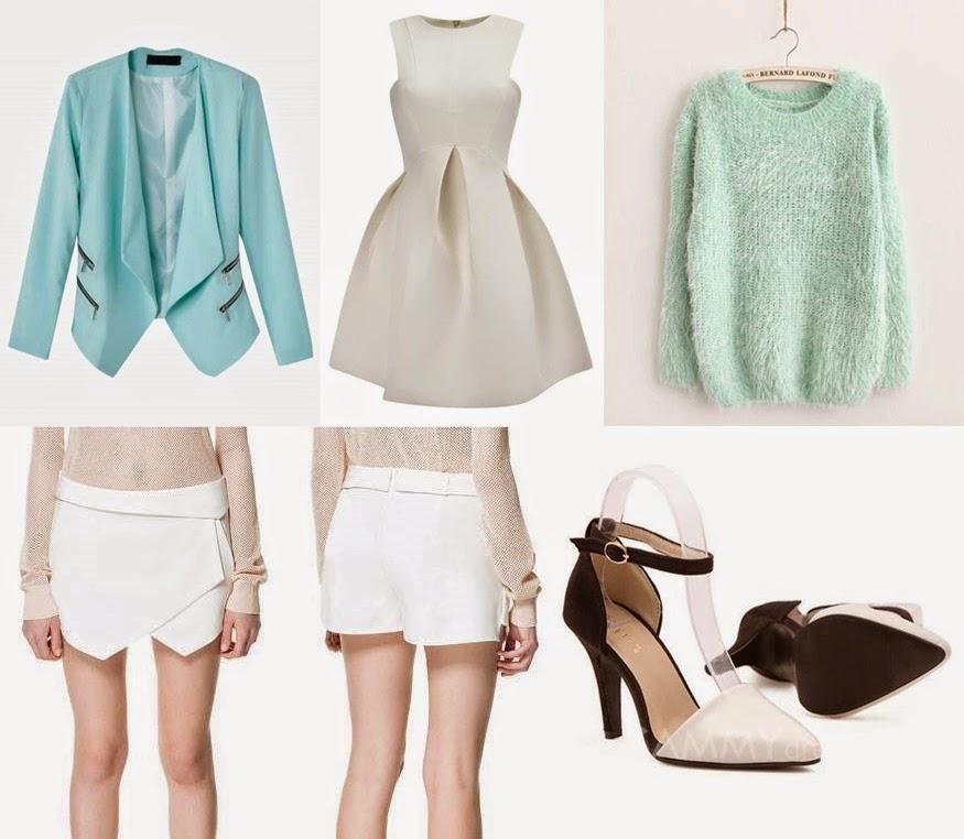 `Baby blue&white dress