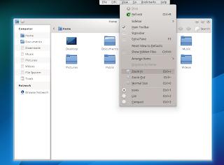 Nautilus (GTK3) app with KDE appmenu
