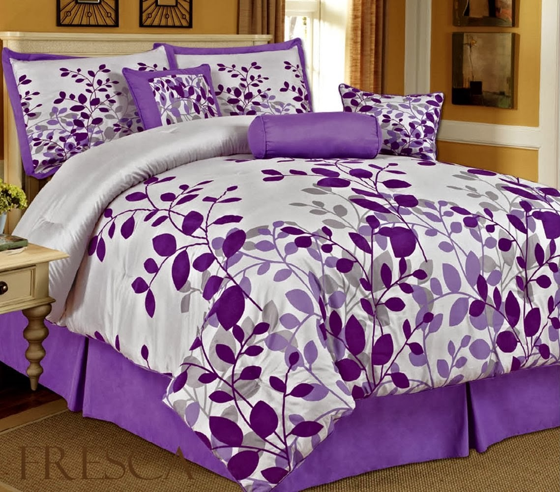 buy best and beautiful bedding sets on sale: purple bedroom ideas