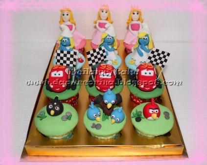 Tahun Anak dan Cupcake Ulang Tahun : Disney Princess Cake, Angry Birds