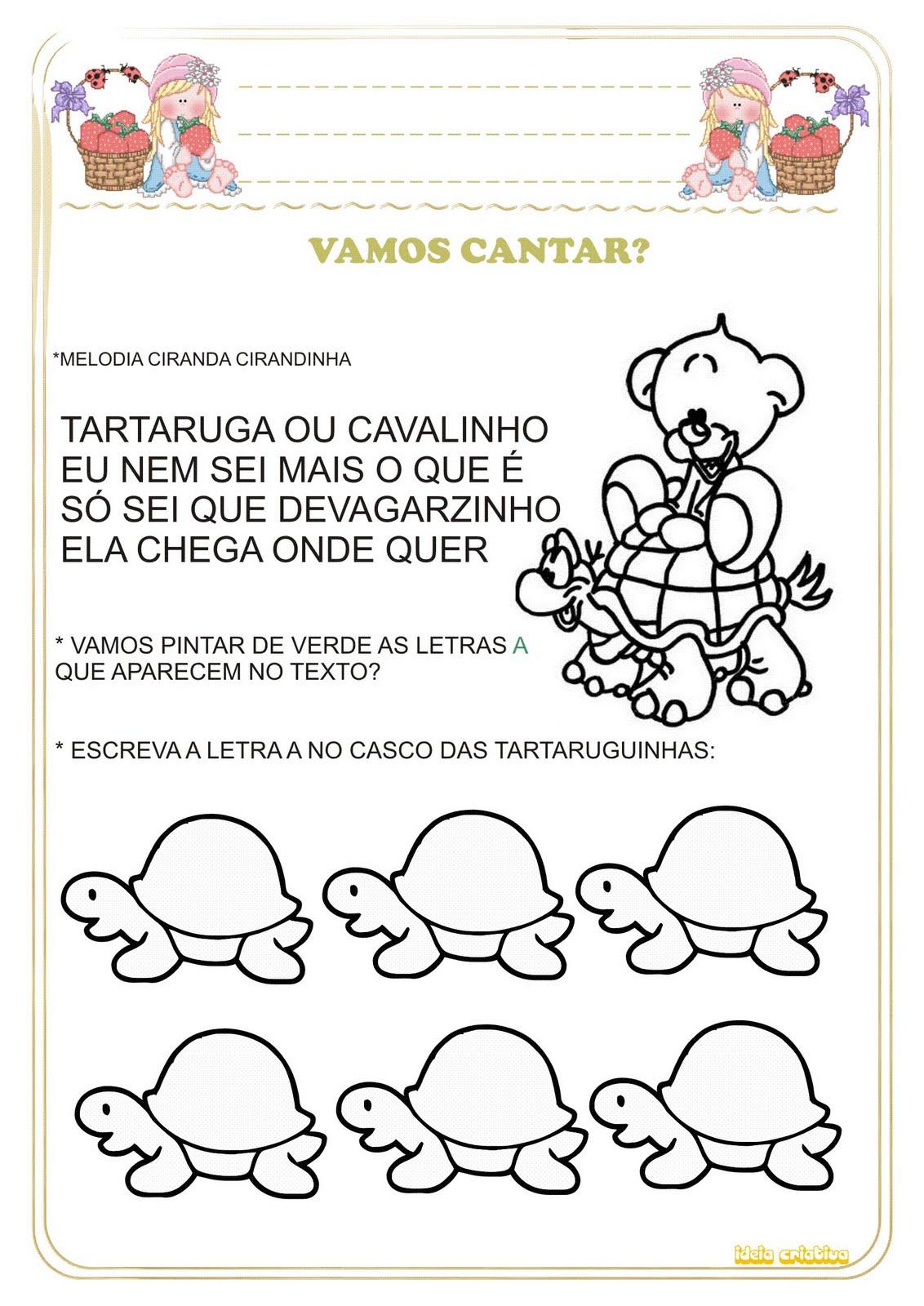 Excepcional Atividade Cantiga de Roda Ciranda Cirandinha Vogal Divertida  TD12