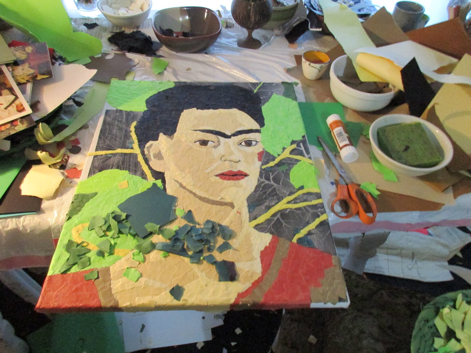 """Frida"" almost completed...my process"