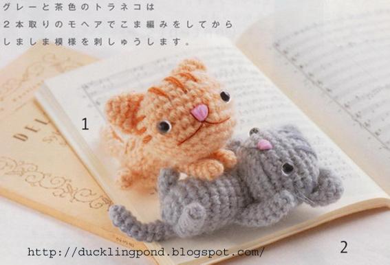 Crochet Patterns Kittens : Ducklingpond: Cats crochet pattern