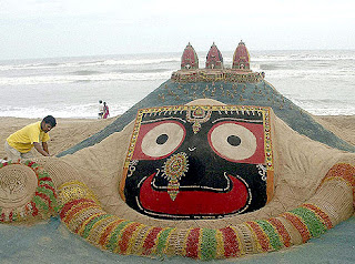 Sudarshan Pattnaik sand art