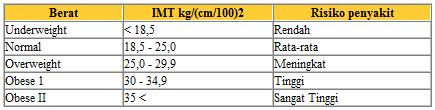 Kalkulator dan Cara Menghitung Indeks Massa Tubuh (IMT)