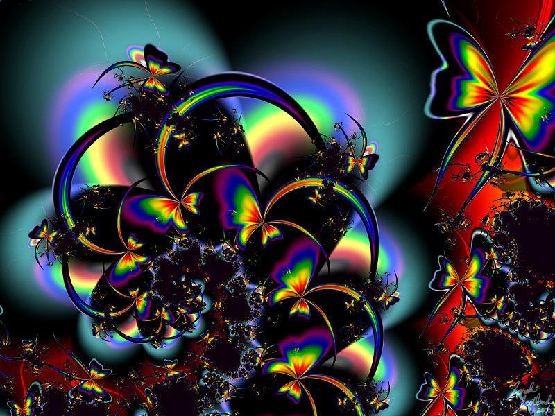 hd rainbow butterfly wallpaper - photo #22
