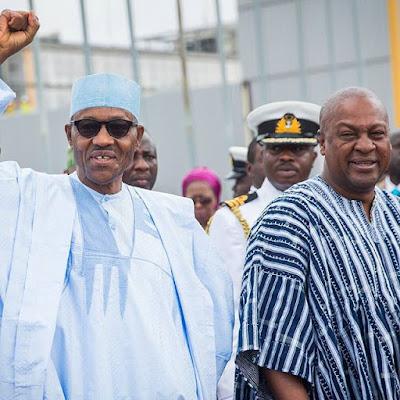 President Buhari and the Ghanaian President John Mahama
