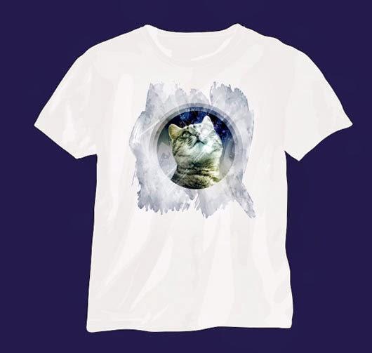 Artistic Watercolor T-Shirt Design