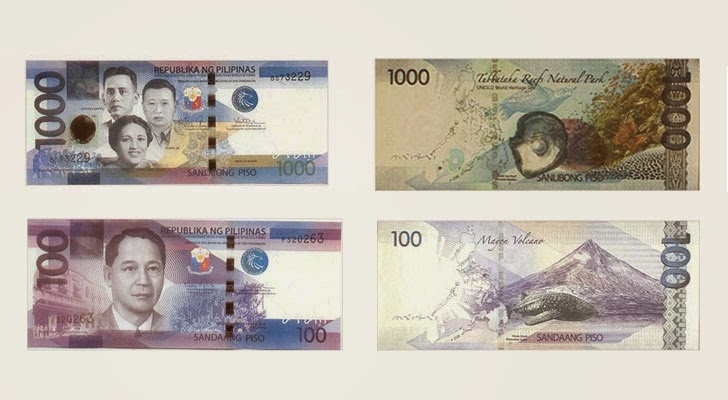 P1000 vs P100 bill similarities