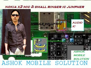 Nokia X3 mic and earpiece filter IC jumper ways