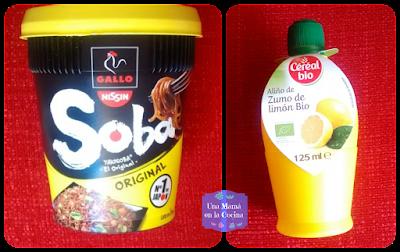 Fideos Soba de Gallo y Aliño de Zumo de Limón Cereal Bio