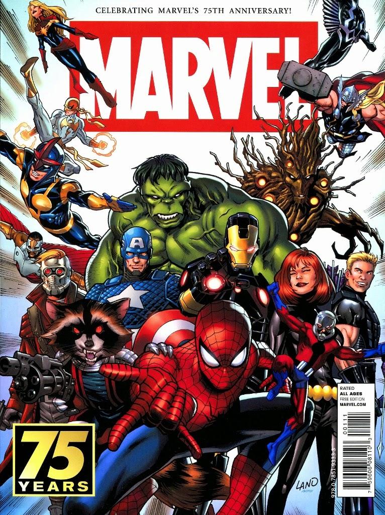 Super dupertoybox marvel 75th anniversary magazine for Anniversary magazine
