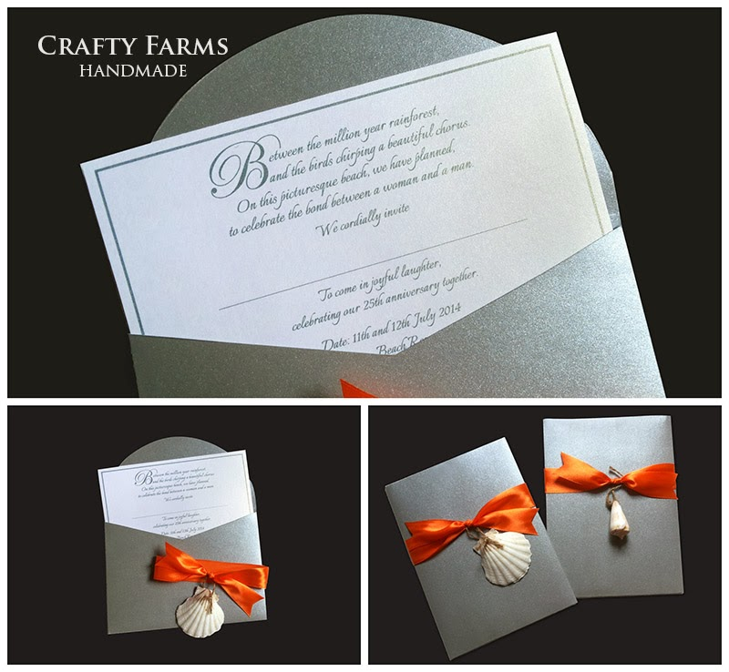Wedding Card Malaysia | Crafty Farms Handmade : Silver and Orange ...