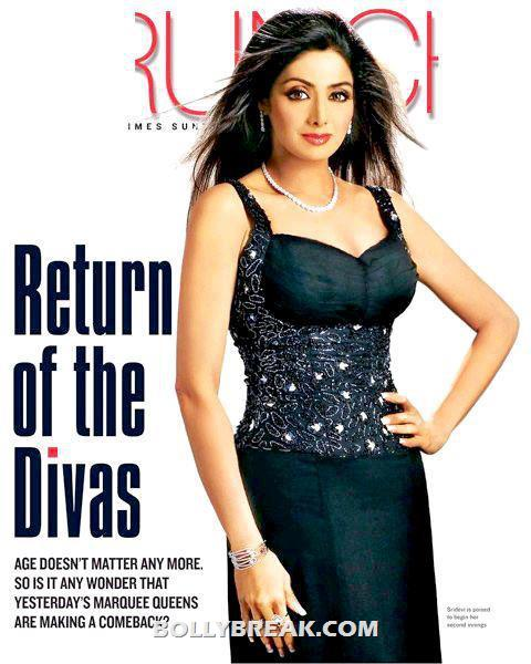 Sridevi Latest magazine scan - Sridevi Latest Pic - 2012