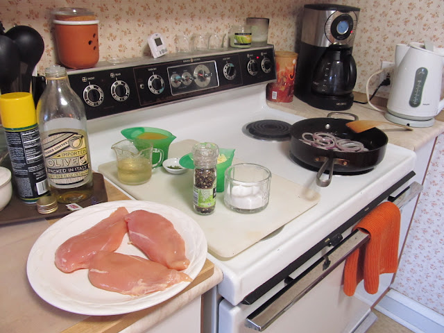 Stuffing Chicken Breasts - get prepared