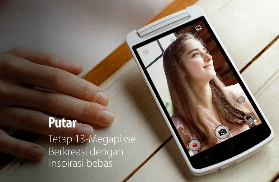 Oppo N1 Mini tetap mengusung kamera 13 MP